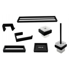 6400B Matt Black Bathroom Accessories Package