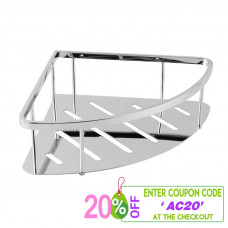 Chrome Stainless Steel Shower Caddy Shelf