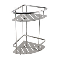 Chrome Stainless Steel 2 Tier Shower Caddy Shel..