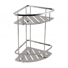 Chrome Stainless Steel 2 Tier Shower Caddy Shelf