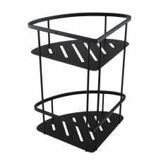 Matte Black Stainless Steel 2 Tier Shower Caddy Shelf