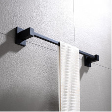 Ottimo Nero Black Single Towel Rails 600mm