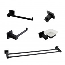 6300B Matt Black Bathroom Accessories Package