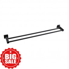 Ottimo Nero Black Double Towel Rails 600mm