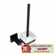 Ottimo Nero Black Toilet Brush with Holder