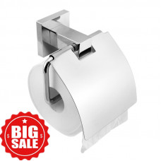 Ottimo Chrome Toilet Paper Roll Holder W/ Cover