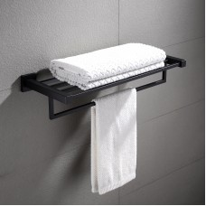 Ottimo Nero Black Towel Rack 600mm