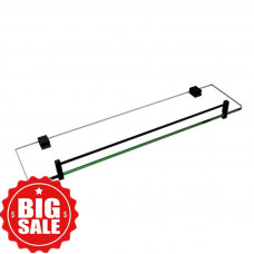 Ottimo Nero Black Glass Shelf Holder 500mm