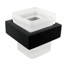 Omar Nero Black and White Toothbrush Holder Tumbler Holder