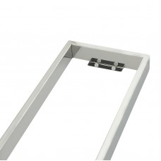 Omar Chrome Glass Shelf Shower Shelves 520mm
