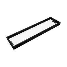 Omar Nero Black Glass Shelf Shower Shelves 520mm