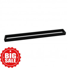 Omar Nero Black Single Towel Rails 800mm