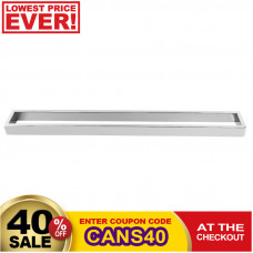 Omar Chrome Single Towel Rails 600mm