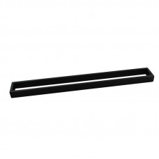 Omar Nero Black Single Towel Rails 600mm