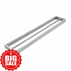 Omar Chrome Double Towel Rails 800mm