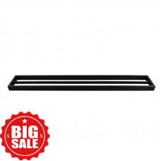 Omar Nero Black Double Towel Rails 800mm