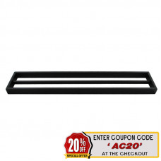 Omar Nero Black Double Towel Rails 600mm