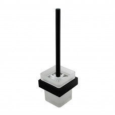Omar Nero Black and White Toilet Brush With Holder