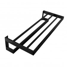Omar Nero Black Double Towel Holder 600mm