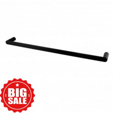 Rumia Black Single Towel Rail 800mm Stainless Steel 304 Wall Mounted