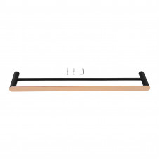 Esperia Black & Rose Gold Double Towel Rail 600mm Stainless Steel ..