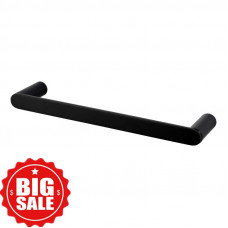 Rumia Black Single Towel Holder 300mm Stainless Steel 304 Wall Mounted