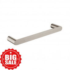 Brushed Nickel Single Towel Holder 300mm Wall Mounted Stainless Steel ..