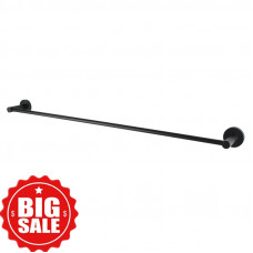 Euro Pin Lever Round Black Single Towel Rack Rail 790mm