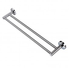 Euro Pin Lever Round Chrome Double Towel Rack Rail 790mm