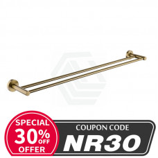 Pentro Round Brushed Yellow Gold Double Towel Rack Rail 790mm