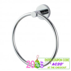 Euro Pin Lever Round Chrome Hand Towel Ring