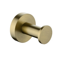 Euro Pin Lever Round Brushed Yellow Gold Stainl..