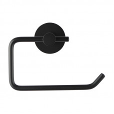 Round Black Toilet Paper Roll Holder Wall Mounted