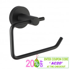 Euro Pin Lever Round Black Toilet Paper Roll Holder Wall Mounted