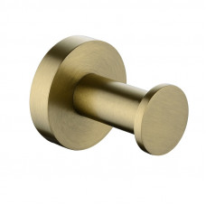 Pentro Round Brushed Yellow Gold Stainless Steel Robe Hook Wall Mounte..