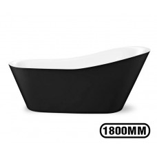 1800x800x820 mm Bathtub Freestanding Acrylic Black Bath tub