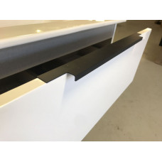 750x460x550mm Plywood White Gloss  Wallhung Vanity Unit  2 Drawers wit..
