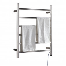 Round Chrome Electric Heated Towel Rails 6Bars