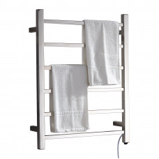 Ottimo Chrome Square Electric Heated Towel Rack 6 Bars
