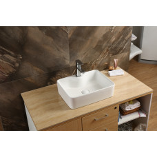 480*370*130mm Above Counter Square White Ceramic Basin Counter Top Was..