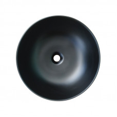 415*415*135mm Bathroom Round Above Counter Matt Black Ceramic Wash Basin