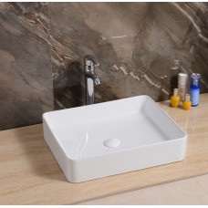 500*400*110mm Above Counter Rectangle White Ceramic Basin Counter Top ..