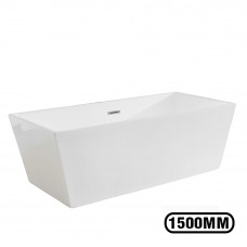 1500x750x580mm Square Bathtub Freestanding Acrylic White Bath Tub