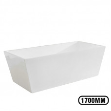 1700x800x580mm Square Bathtub Freestanding Acrylic White Bath Tub