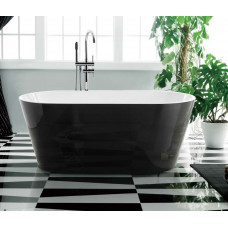 1700x800x580 mm Oval Bathtub Freestanding Acrylic Black Bath tub