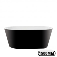 1500x750x580 mm Oval Bathtub Freestanding Acrylic Black Bath tub