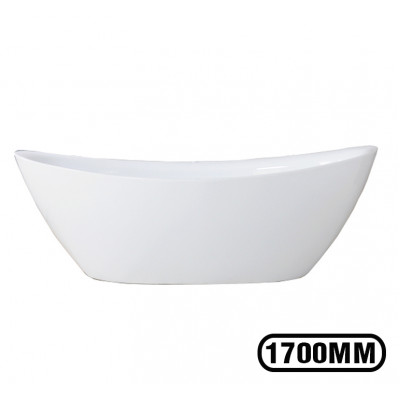 1700x800x710mm Oval Bathtub Freestanding Acrylic White Bath Tub
