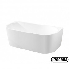 1700x800x580mm Back To Wall Freestanding Acrylic Apron White Bath Tub