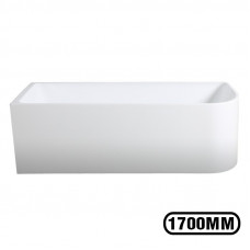 1700x750x580mm Corner Bathtub Left Corner Back to Wall Acrylic  White Bath Tub