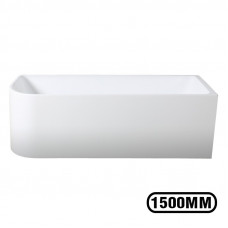 1500x750x580mm Corner Bathtub Right Corner Back to Wall Acrylic  White..